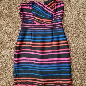 H & M strapless silk dress size 8 real fit is 4.